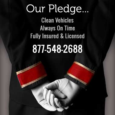 Our Pledge - clean vehicles, always on time, fully insured and licensed - 877-548-2688